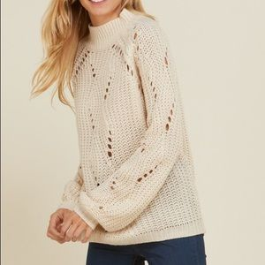 Beige Longsleeve sweater with holes - new with tag